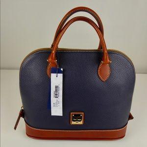 Dooney & Bourke Zip Zip Leather Dome Satchel NWT